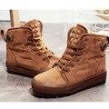 Mujeres de La Manera Zapatos Ocasionales de la Nieve Botas de Invierno Botas Cortas de Estilo Preppy Mujeres Tobillo Botas Tamaño 35 ~ 40
