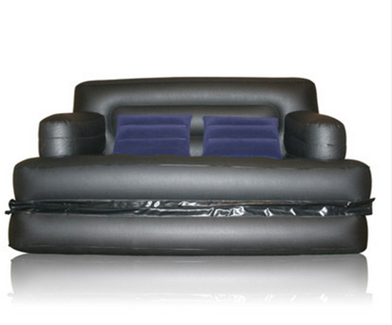Foldable Inflatable Sofa Leather Folding Wear resistant