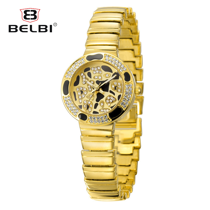 BELBI Beauty Female Diamond Three Pin Watches Top Luxury Alloy Watch Band Special Dial Design Brand Watch BELBI Hodinky Women цена