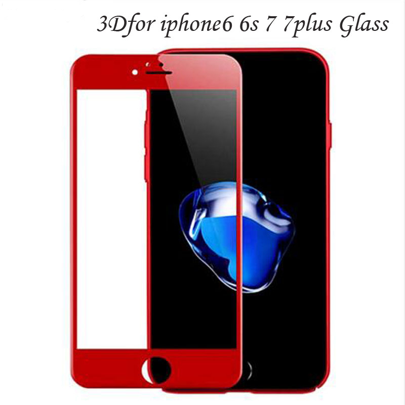 WeIIZIy 3D curved edge for iphone 6s x full cover tempered glass for iPhone 7 S 6 6S 8 Plus Premium screen thickened glass