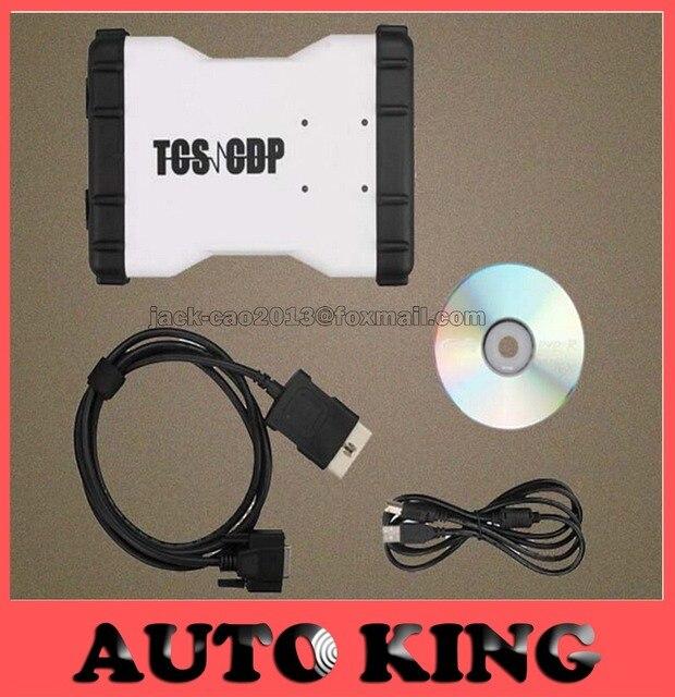 Nueva tcs cdp pro blanco/AZUL color funciona en coches y camiones 3 in1 con nueva vci SIN BLUETOOTH en El Envío gratis