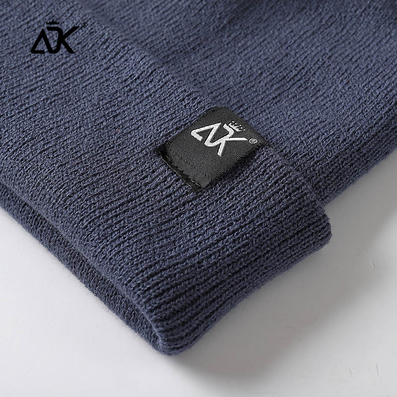 Unisex Hats Knitted ADK Tags Cap Woman Beaines For Winter Breathable Men Gorras Simple Hats Warm Solid Casual Lady Beanies 3