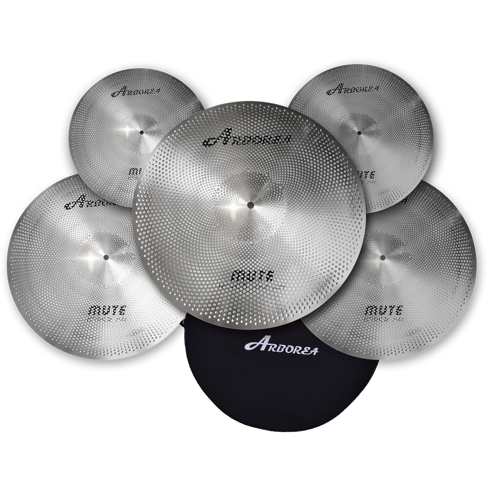 Most Popular Arborea Low volume cymbal/Silence Cymbal Set With Bag arborea ghost cymbal set on sale