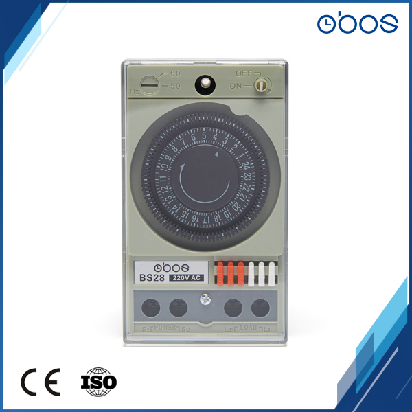 good quality cheap price 220V 24 hours timer switch with 48times on/off per day minimum time set range 30 min free shipping