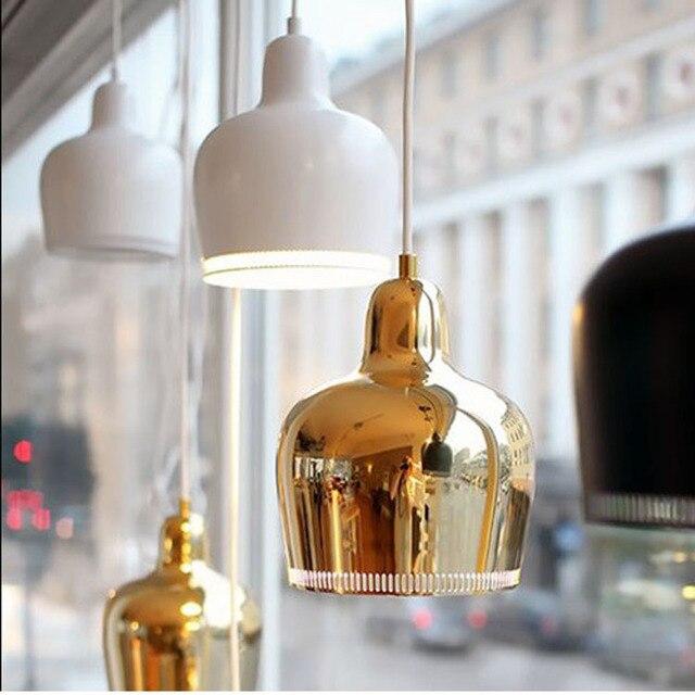 דנמרק נורדי Artek פינית אלוואר אלטו האדמירליות פעמון תליון אורות חדר שינה מתכת ברק LED מנורת חדר אוכל בר דה גופי
