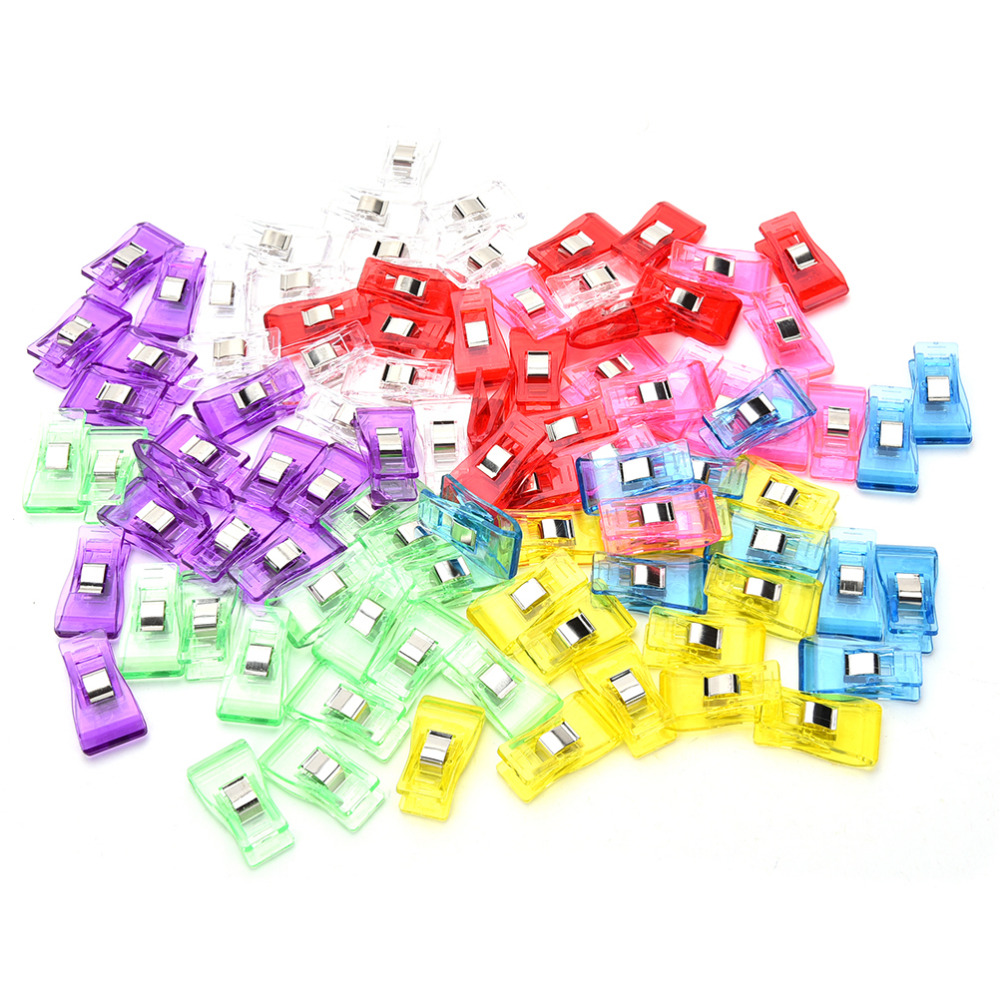 50pcs Assorted Wonder Clips for Sewing Quilting Binding Clips Knitting Craft