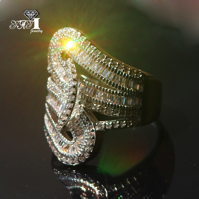 YaYI Jewelry Fashion New Arrival Princess Cut  5.6CT White Zircon Silver Color Engagement Rings Wedding Lovers Party Rings 6