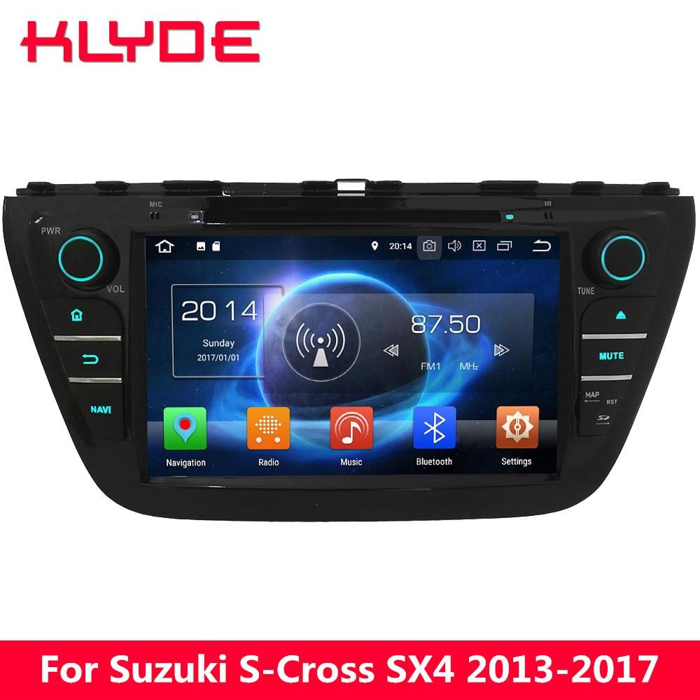 KLYDE 8 4G Octa Core Android 8.0 7.1 6.0 4GB RAM 32GB ROM Car DVD Multimedia Player For Suzuki S-Cross SX4 2014 2015 2016 2017 молдинг задней двери матовый suzuki 990e0 61m22 000 для suzuki sx4 2016