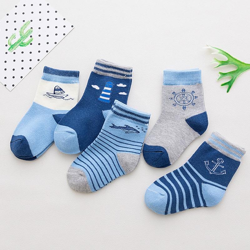 5 Pair/lot Baby Socks Neonatal Summer Mesh Cotton Polka Dots Plain Stripes Kids Girls Boys Children Socks For 1-12 Year