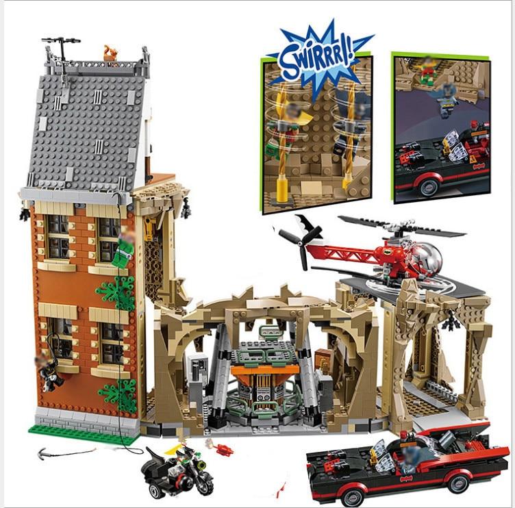 Compatible legoing suprehero marveled Batman 76052 lepin Batcave 07053 Batman Super Heroes Batcave Building Blocks Bricks