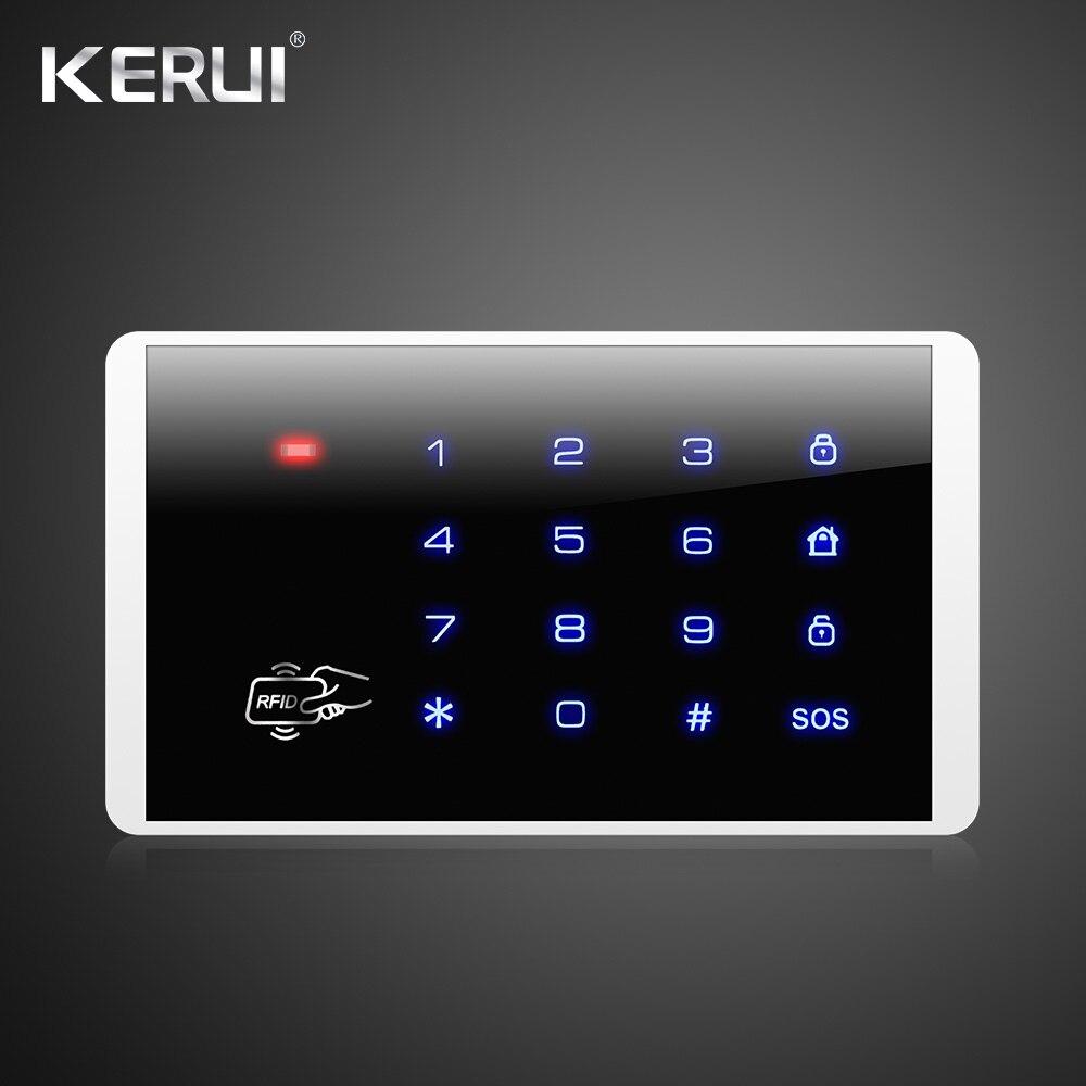Kerui Drahtlose Tastatur RFID Entwaffnen Alarm System Touch Screen Tastatur Für Kerui G18 G19 W1 W2 K7 Home Alarm System