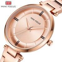 MINIFOCUS נשים שעונים עמיד למים יוקרה מותג 2019 אופנה נשים גבירותיי קוורץ שעון זהב שמלת שעונים reloj mujer