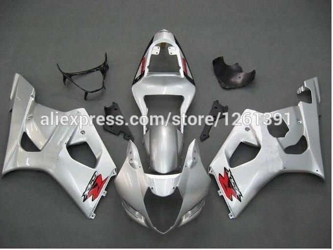 Литья под давлением для SUZUKI GSX-R1000 K3 03 04 GSX R1000 K3 серебро GSXR 1000 2003 2004 GSXR1000 комплект обтекателей