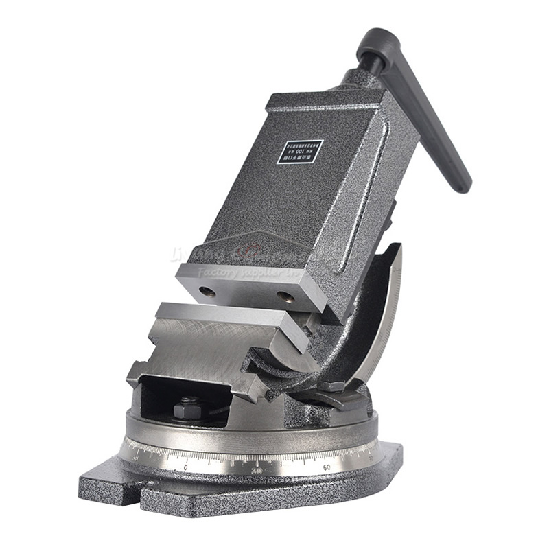 Tilting Angle Precision Flat Tongs Drilling Milling Machine Fixed Jaw Vise 5 Inches