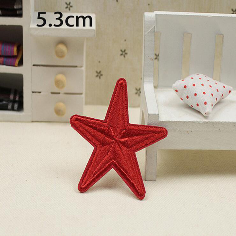 Small Star Military Embroidery Patches for Clothing Iron on Clothes Jeans Applique Clothes Badge Stripe Sticker Iron on Transfer in Patches from Home Garden