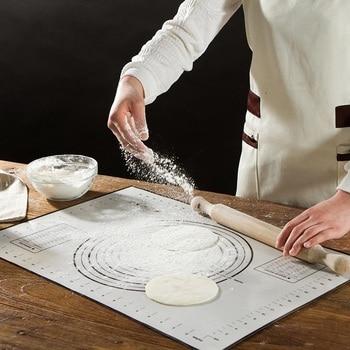 주방 스케일 반죽 롤 패드 두꺼운 실리콘 베이킹 매트와 도마 반죽 보드 패널 60*40 cm 무료 배송