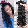 Queen Hair Products Перуанский Девы Волос Свободные Глубокая Волна Перуанский глубокая Волна 3 связки Влажную и Волнистое Человеческих Волос Перуанский Вьющиеся волос