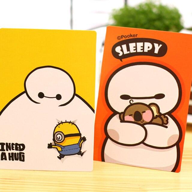 9 pieceslotkawaii big hero the baymax cartoon postcard set greeting cards - Cartoon Christmas Cards