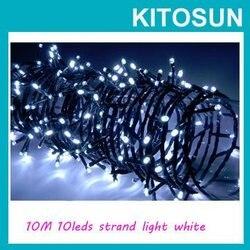 شحن مجاني! 10M 100 LED سلسلة أضواء LED عيد الميلاد ضوء 220/110V 8 يعرض إضاءة زينة الحفلات