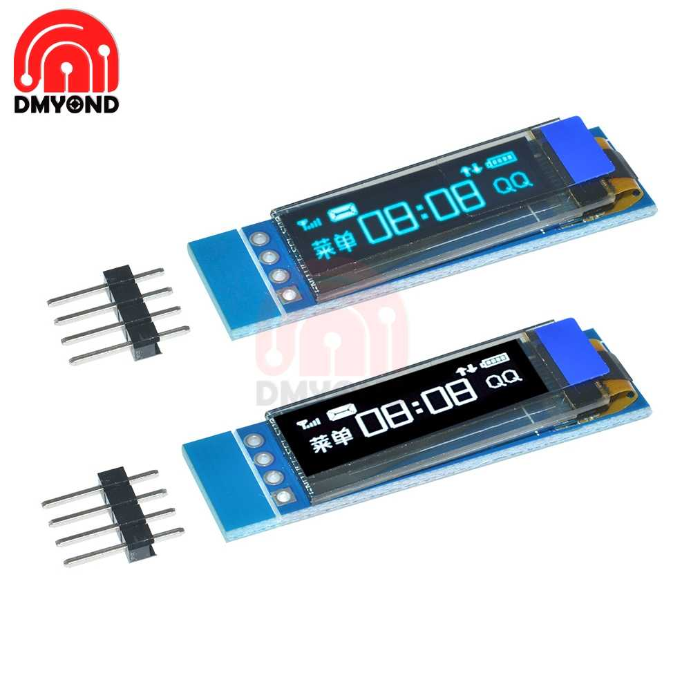 0 91 Inch 128x32 IIC I2C Serial White Blue OLED LCD Display DIY Oled Module  SSD1306 Driver IC DC 3 3V 5V For Arduino 0 91