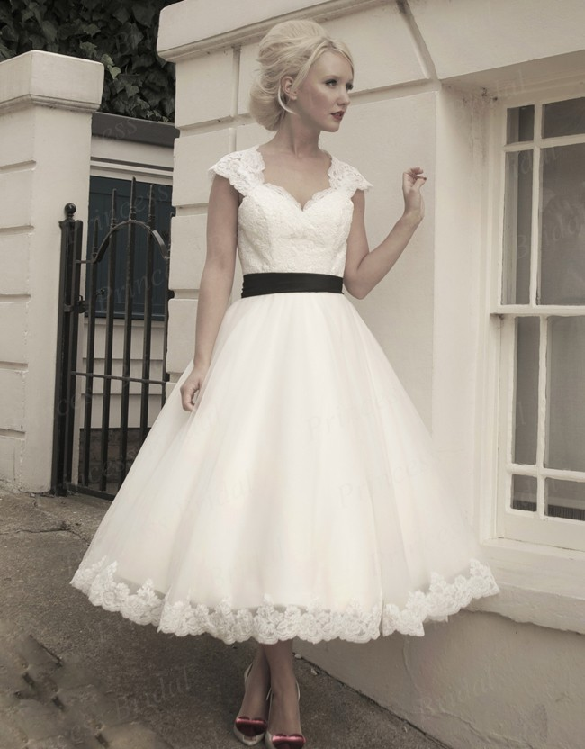 Online Buy Wholesale tea length wedding dresses vintage from China ...
