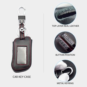Image 3 - Real Leather Car Key Case For Starline A93 A63 A36 A39 A66 A96 Two Way Car Alarm LCD Remote Control Keychain Protect Cover Skin