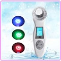 Deep Cleansing Ultrasonic Facial Cleanser Anti Aging LED Light Photon Therapy Galvanic Spa Skin Care Face Beauty Massager