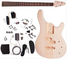 IB electric bass guitar kits /DIY guitar basswood body maple neck including all the accessories
