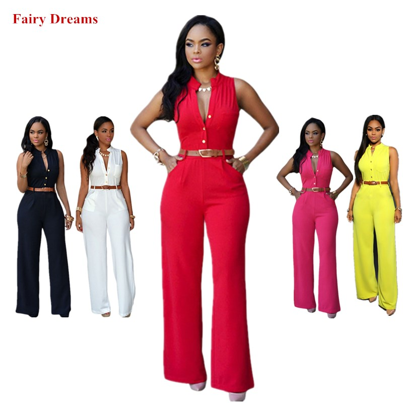 Women African Clothes Dashiki African Jumpsuits Rose Red Black White Yellow Traditional Africa Kanga Clothing 2019 Summer Style