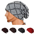 Autumn Winter Unisex Slouch Ski Beanie Hat Knitted Casual Mens Womens Skullies Skull Beanies Caps Large Lattice Warm Ski Hat