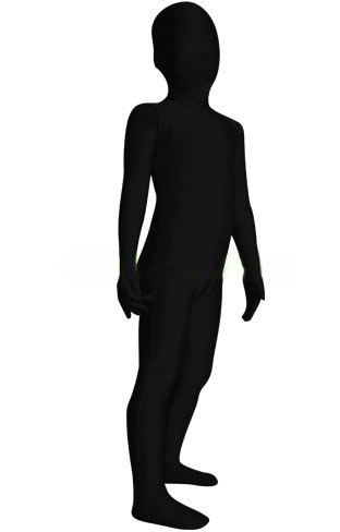 Free Shipping Lycra Spandex Kids Zentai Black Full Body Suit Black Shadow Zentai Children Cosplay Under Suit Party Costume