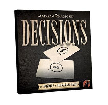 2016 nuevas decisiones por mozique (gimmick + dvd), magic tricks, cerca, etapa, clásico juguetes, ilusión, truco, prop, divertido, mentalismo