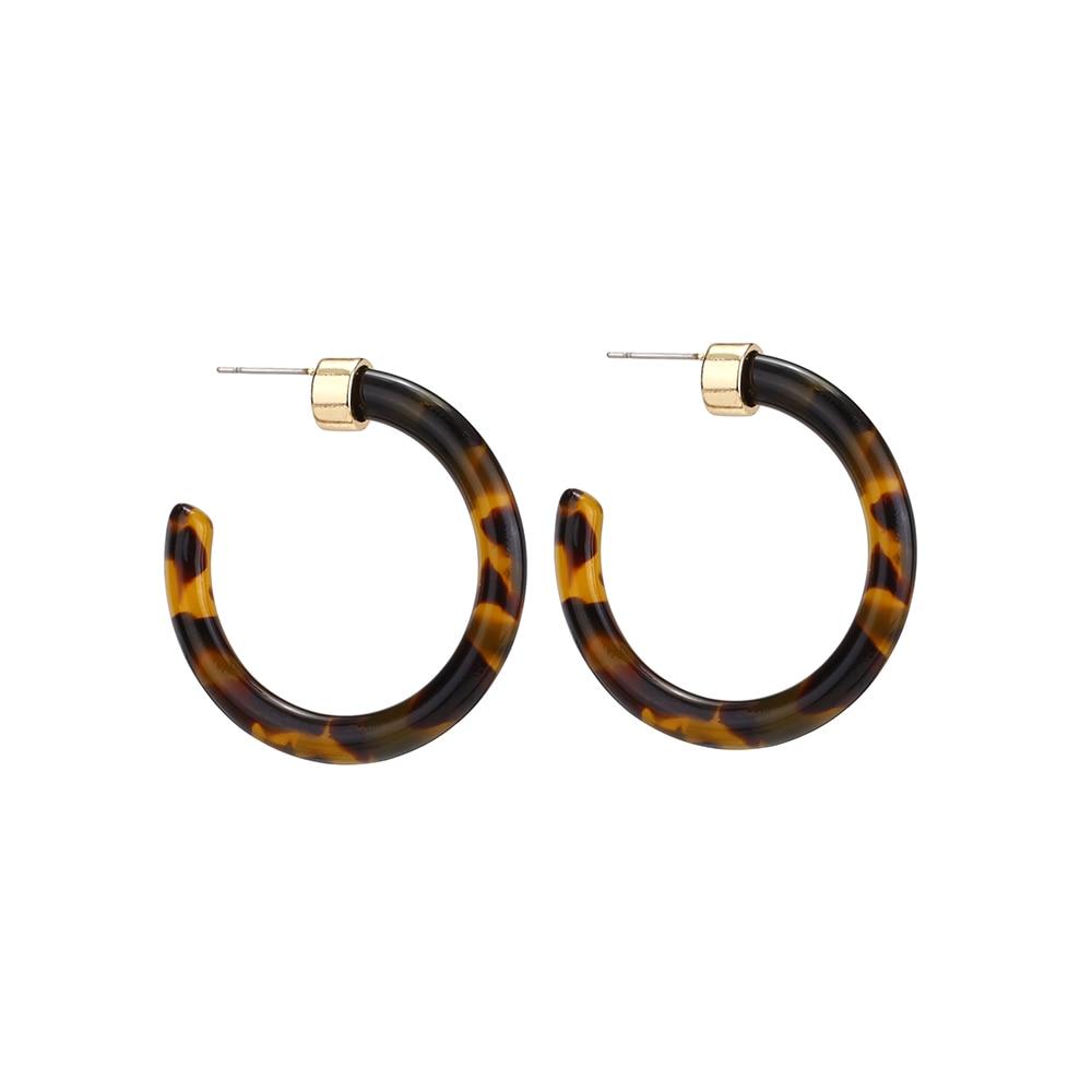 Женские леопардовые фигурные серьги ZA, висячие серьги черепаховой расцветки из акрилацетата, украшения для вечеринок - Окраска металла: 103651