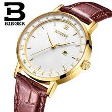 שוויץ BINGER נשים שעוני יוקרה מותג קוורץ שעון נשים יפן תנועת Relogio Feminino עמיד למים שעוני יד B2001 3