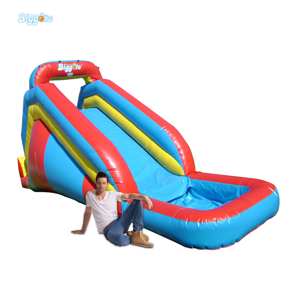 Inflatable Inflatable Wet Bouncy Slide with Water Pool for Kids children shark blue inflatable water slide with blower for pool