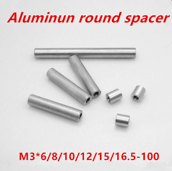 10pcs/lot <font><b>M3</b></font>*6/8/10/12/13-60(OD=5mm) Aluminum spacers round shaped aluminum round standoff spacer for Multicopter image