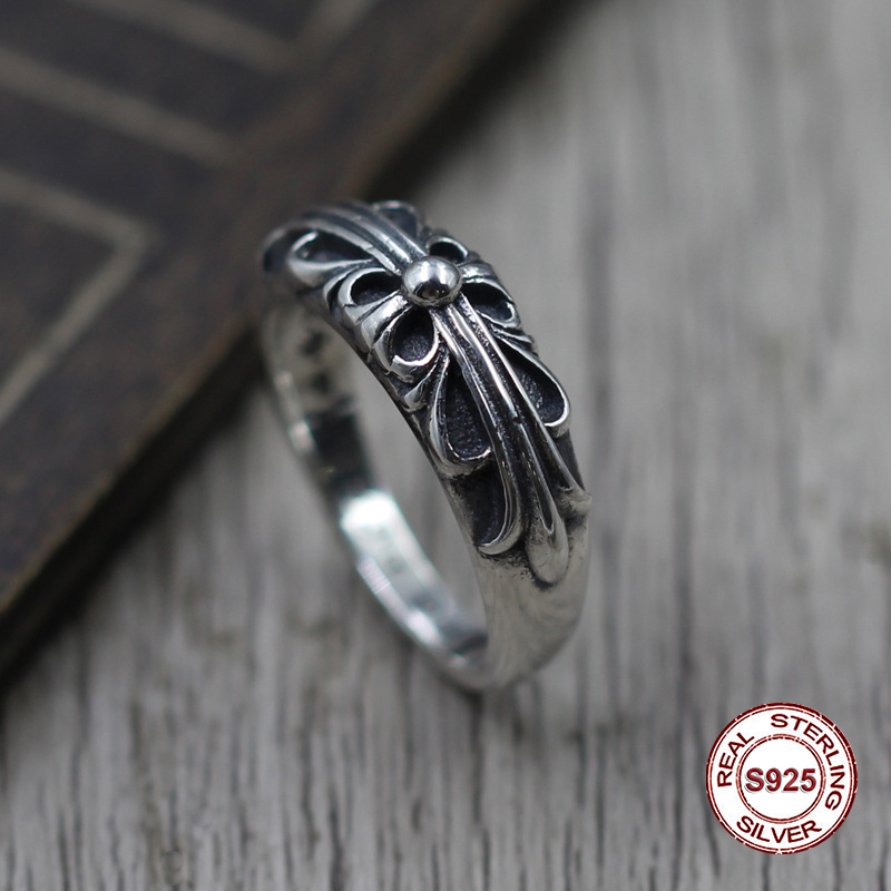 S925 pure silver mens ring personality Do old restoring ancient ways punk style The crusader classic ring Gift to your loverS925 pure silver mens ring personality Do old restoring ancient ways punk style The crusader classic ring Gift to your lover