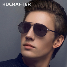 HDCRAFTER High quality Men's Fashion Driving Sunglasses 100% Polarized Aluminum Alloy Frame