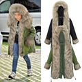 Black Army Green Kids Children Parka Coats with Faux Fur Hooded Winter Thick Thermal Warm Cotton Outerwear for Teenage Boy Girls