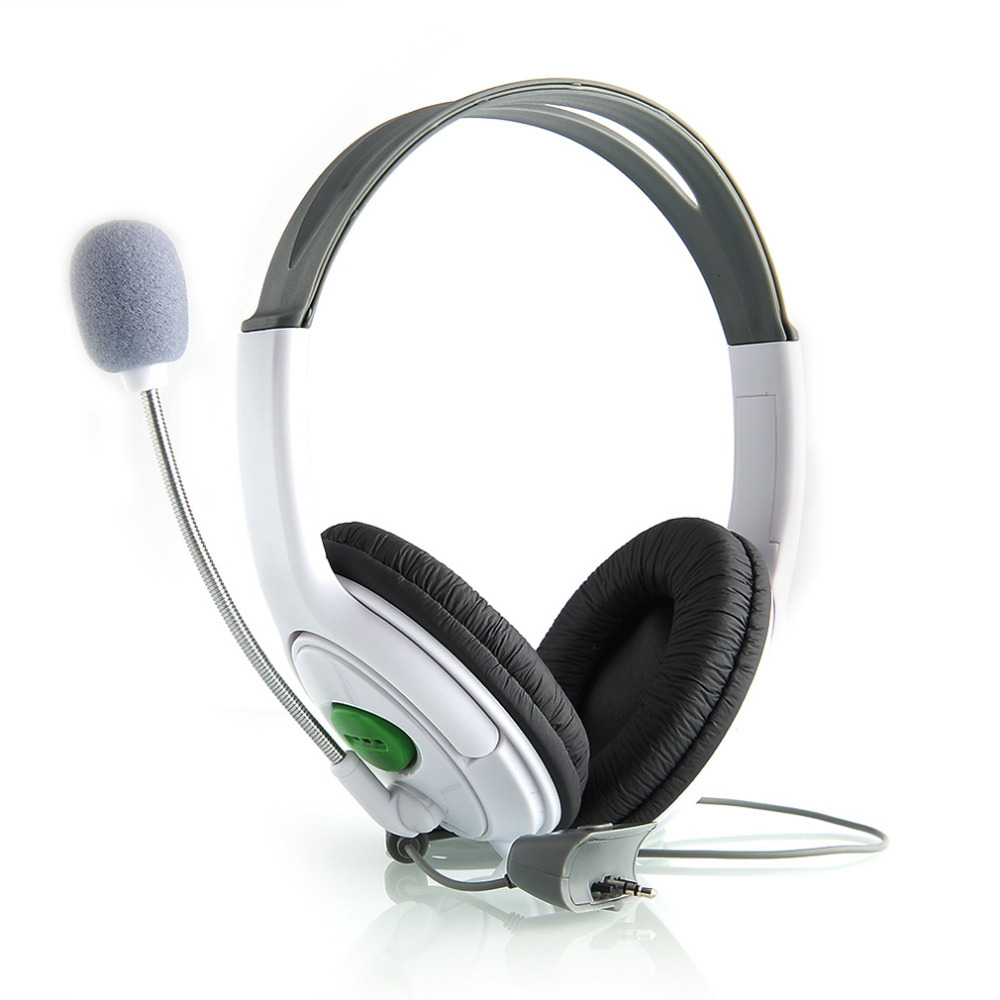 High Quality Live Big Headset Headphone With Microphone for XBOX 360 Xbox360 Slim NEW Arrival Gaming Headsets White/Black hde gaming chat headphone headset with microphone mic for microsoft xbox 360 live