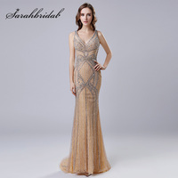 High End Luxury Long Celebrity Dresses With Heavy Beading Crystal Amazing Red Carpet Dress Formal Women