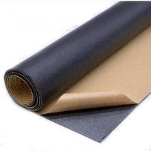 135x50cm PU cuero auto arreglo adhesivo bonificaciones Imitación Piel atrás desde el Parche de goma pegajoso cuero sofá telas