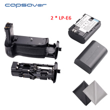 capsaver BG-1K Vertical Battery Grip Holder with 2pcs LP-E6 Batteries for Canon EOS 6D Alternative for BG-E13 Battery Handgrip