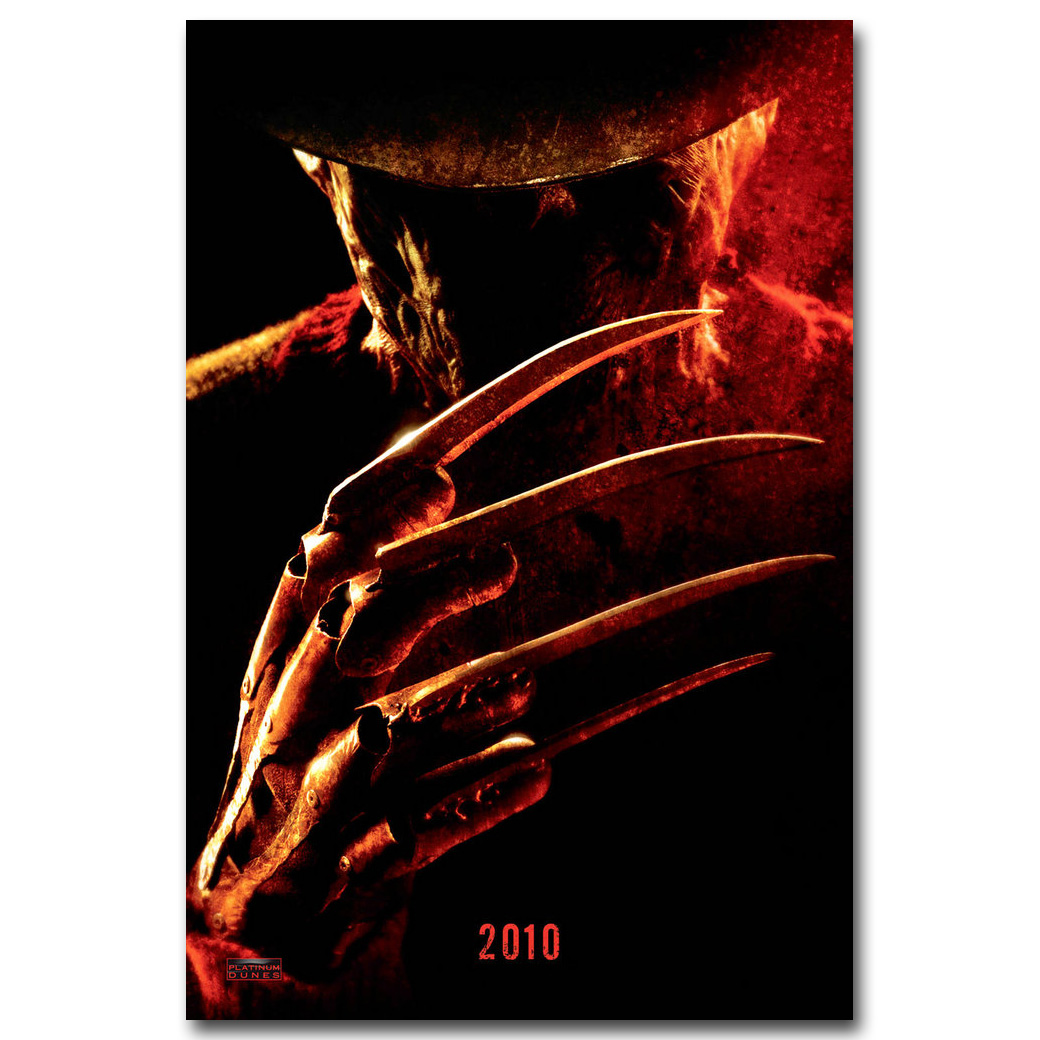 2010 A NIGHTMARE ON ELM STREET Movie Silk Fabric Poster Horror Freddy Kruger