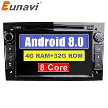 Eunavi Octa Core 7 »2 Din Android 8,0 1024*600 HD dvd-плеер автомобиля для Opel Astra Vectra Antara Zafira Corsa gps навигации радио