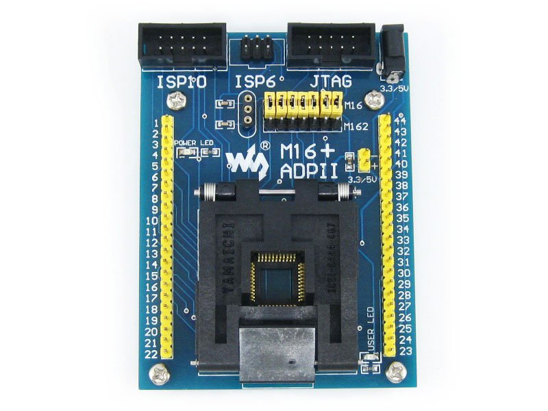 M16+ ADPII ATmega16 ATmega32 TQFP44 AVR Program Programming Adapter Test Socket Freeshipping m48 adp atmega48 atmega88 atmega168 tqfp32 avr programming adapter test socket