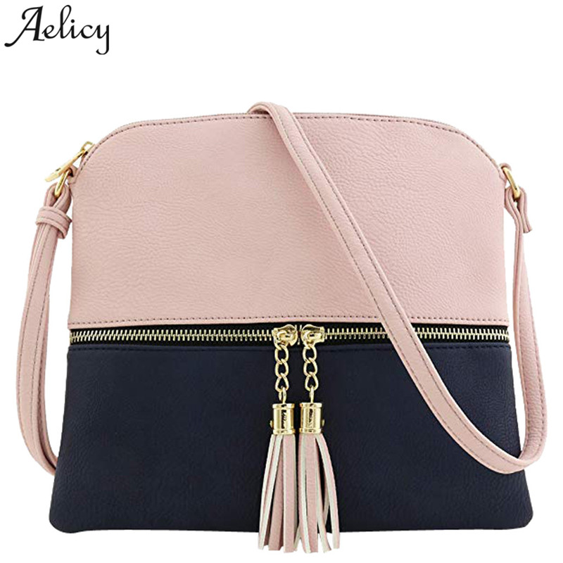 Aelicy Girls Messenger Bag Leather Tassel Ladies Shoulder Bag Hit Color crossbody bag for women 2019 bolsa feminina drop shipAelicy Girls Messenger Bag Leather Tassel Ladies Shoulder Bag Hit Color crossbody bag for women 2019 bolsa feminina drop ship