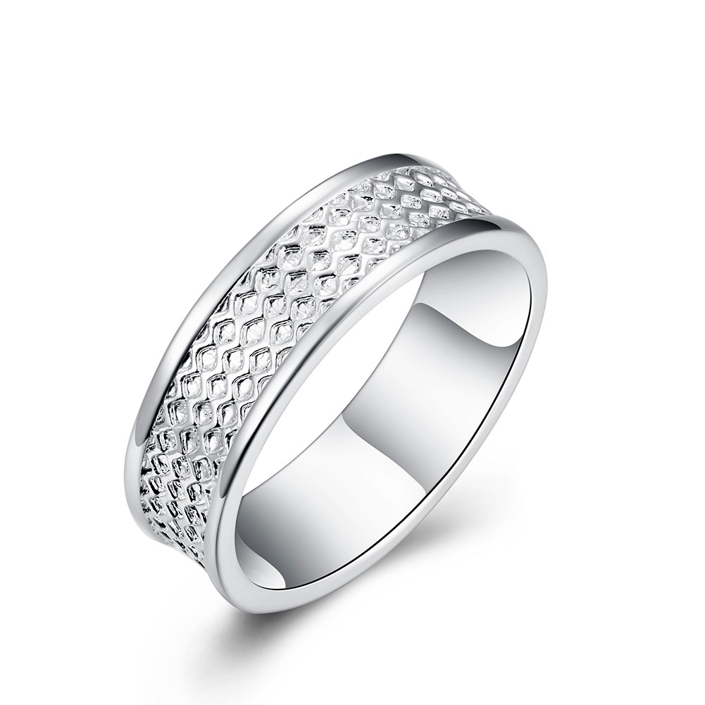 Mens Tread Tire Ring 2017 Hot Sale Silver Plated Fashion Men Jewelry Two Lines Finger Rings For Women Bague Femme Top Quality