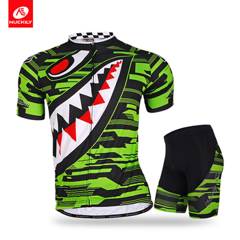 NUCKILY Men Cycling Suit Summer Cycling Jersey With Bike Shorts Set Short Sleeve Bicycle Clothing Cycle Wear MA001MB001