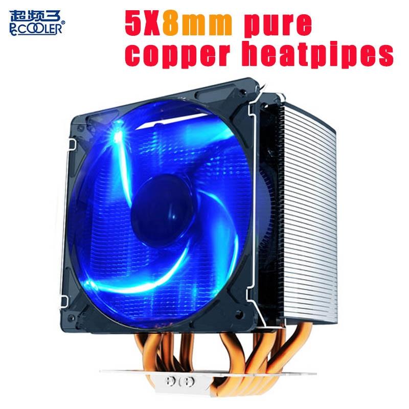 все цены на  PcCooling S126cpu cooling radiator fan 5 8mm heatpipes 12cm LED 4pin PWM quiet fan for AMD/Intel 775 1150 1151 1155 1156  онлайн